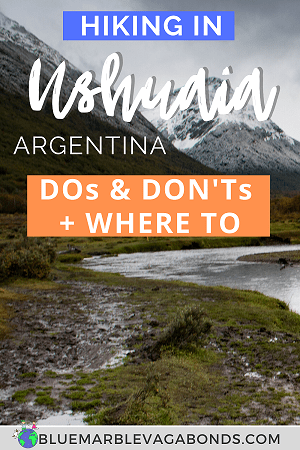 Pin for hiking in Ushuaia, Argentina