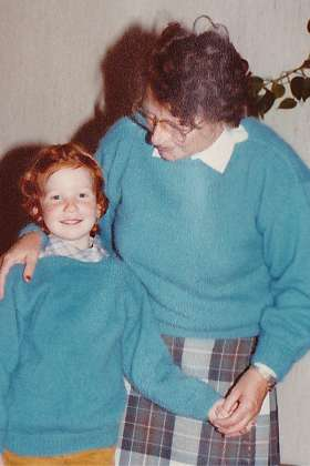Me and Gran in our blue sweater