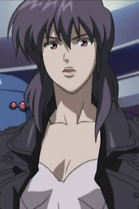 Major Motoko Kusanagi.