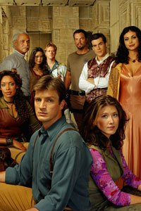 The cast of the space western Firefly.