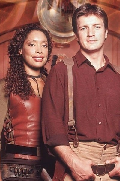 Nathan Fillion and Gina Torres and Mal and Zoe.