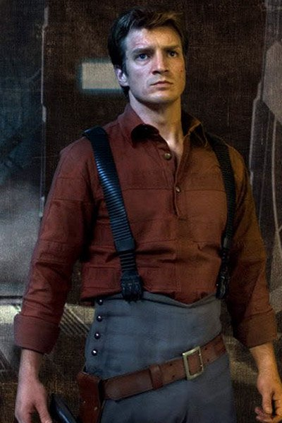Nathan Fillion as Captain Mal.