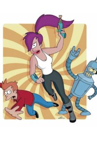 Fry Leela and Bender in dramatic action poses.