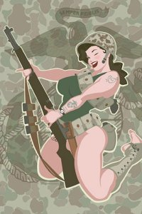WWII Marine Girl by Andrew Bawidamann.