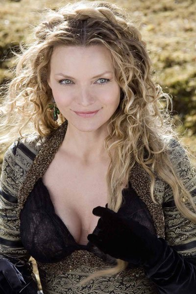 Michelle Pfeiffer as Lamia, the Witch Queen.
