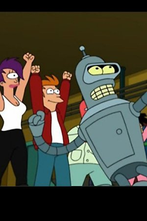 Bender and the gang celebrate.