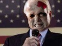A zombified John McCain.