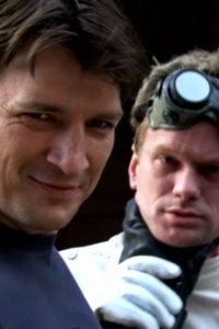 Nathan Fillion as Captain Hammer and Neil Patrick Harris as Dr. Horrible