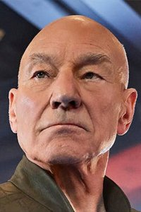 Patric Stewart as Jean Luc Picard, sullen action hero.