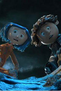 Coraline and Whybie gaze down the deep well in horror.
