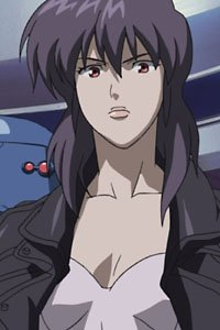 The shapely full-body cyborg Major Motoko Kusanagi from the series Ghost in the Shell: Stand Alone Complex.