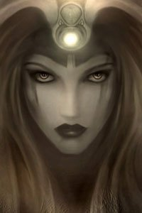 A gray portrait of a beautiful woman with dark lashes and long hair.