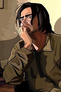 Rory Cochrane as Charles Freck looking particularly disturbed.