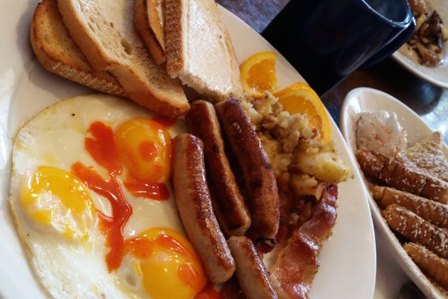 Lucky Stars Hungry Man Breakfast - Blue Moon Grill Wakefield via Yelp by James B.