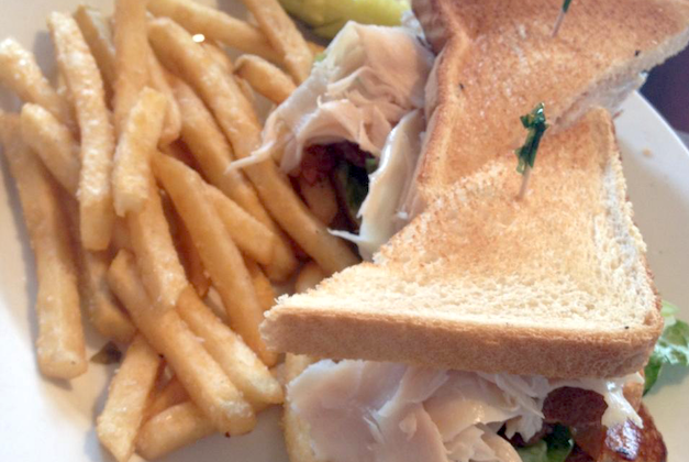 Turkey Club Sandwich via FourSquare by Maria R.