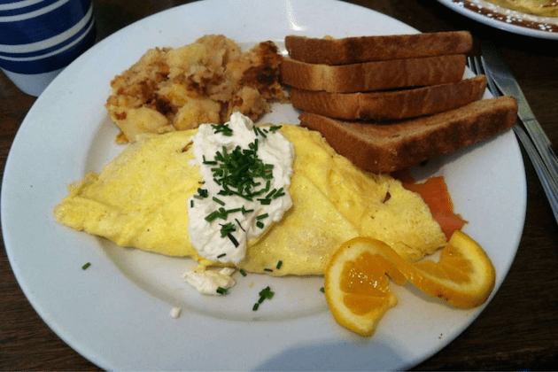 Smoked Salmon Omelette via Zomato by Holly