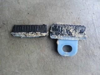 Customer's broken front window clip