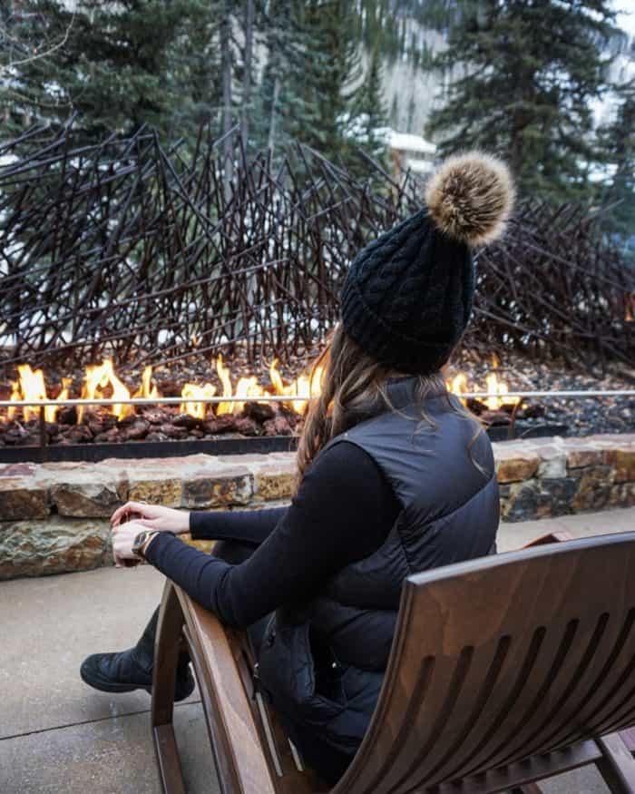 Fire pit at Hotel Talisa Vail Colorado