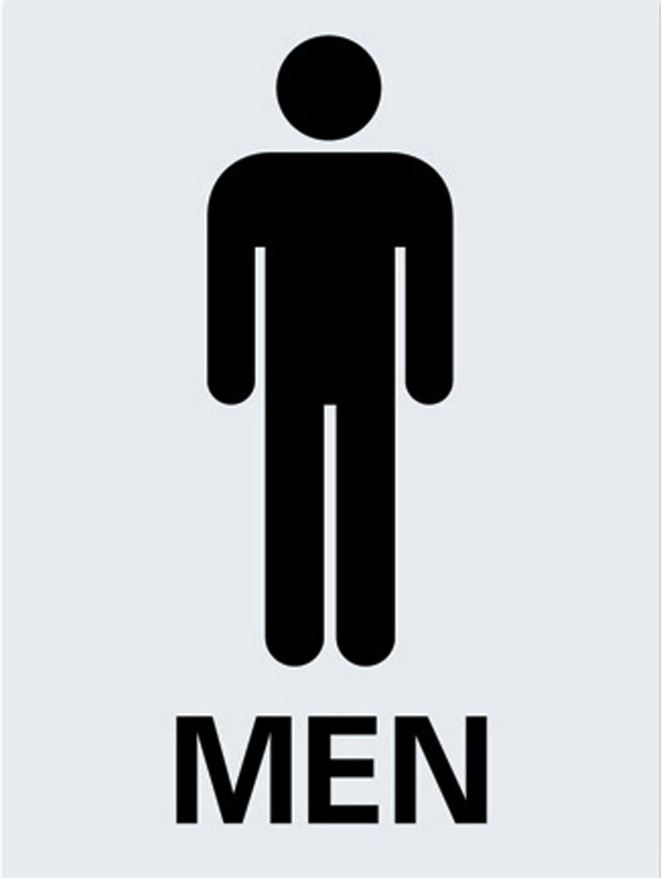 Mens Toilet Sign Metal