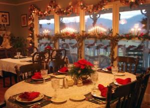 Blue Mountain Mist dining area