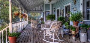 Porch at Blue Mountain Mist bed and breakfast in Sevierville