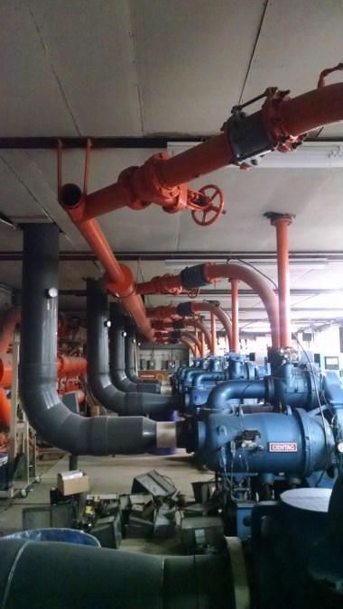 Pump house compressors.