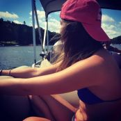 Candid moment on the pontoon in Deep Creek Lake