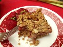 Strawberry Rhubarb Squares