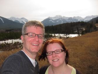 With Jodi outside Banff, AB. April 2012