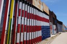 Mexico-USA border in Tijuana