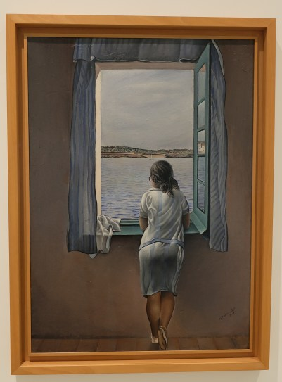 """""""Girl at the Window"""" by Salvador Dali"""