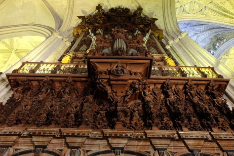 Pipe organ in Seville Cathedral