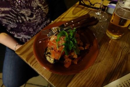 Bar Alfalfa - bread, tomatoes, rocket, eggplant