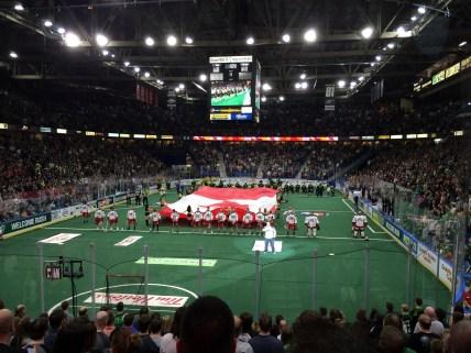National anthem at Rush game