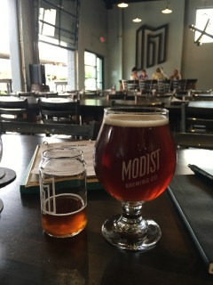 Beers at Modist Brewing in Minneapolis