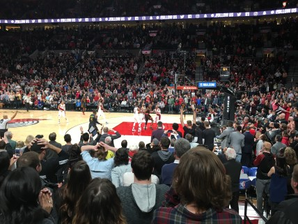 Overtime at Trail Blazers game