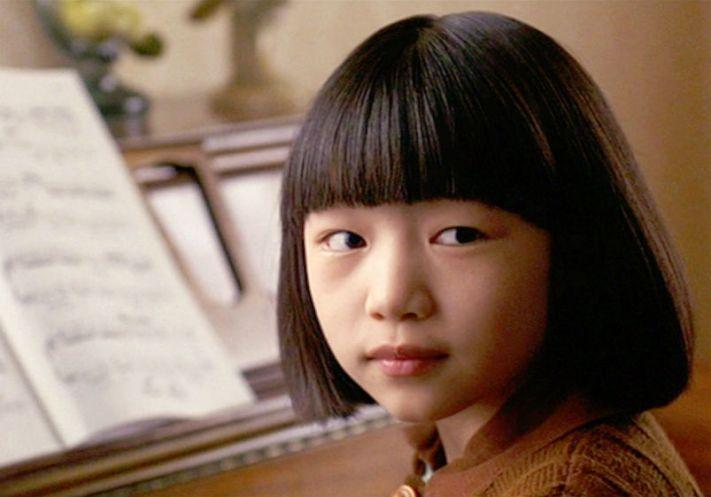 June playing piano