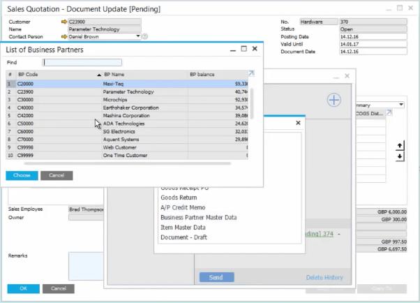 SAP Business One Add Business Partner Master Data Link