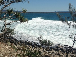 National Park into Johnsons Point breaking right through on high tide.