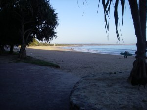 Noosa Heads Main Beach ready for the invasion.