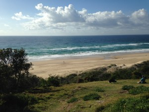 The rolling pastures of Sunrise Beach.