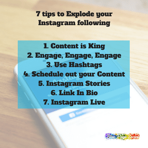 7 Tips to explode your instagram following