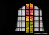 坐禅堂  A window in the meditation hall (zazen do) .