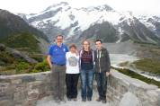 Family time at Mount Cook