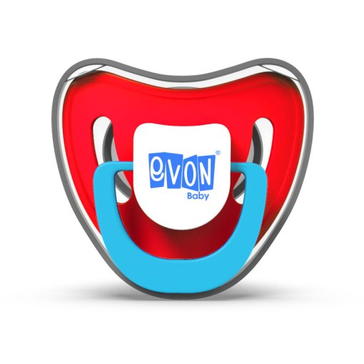 EVON Round Head Small Pacifier with cover
