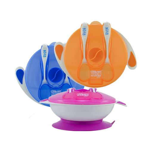 EVON Feeding Bowl with spoon and fork
