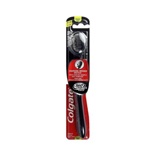 Colgate 360 Charcoal Infused Bristles Medium Toothbrush