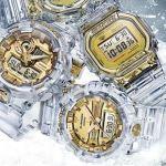 発売!G-SHOCK に35周年記念モデル―金色の氷河   グレイシア ゴールド !予約受付