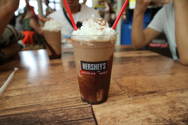 ハーシーズチョコレートワールドのチョコレートドリンク