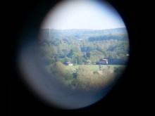 Munkebo bakke through the binoculars
